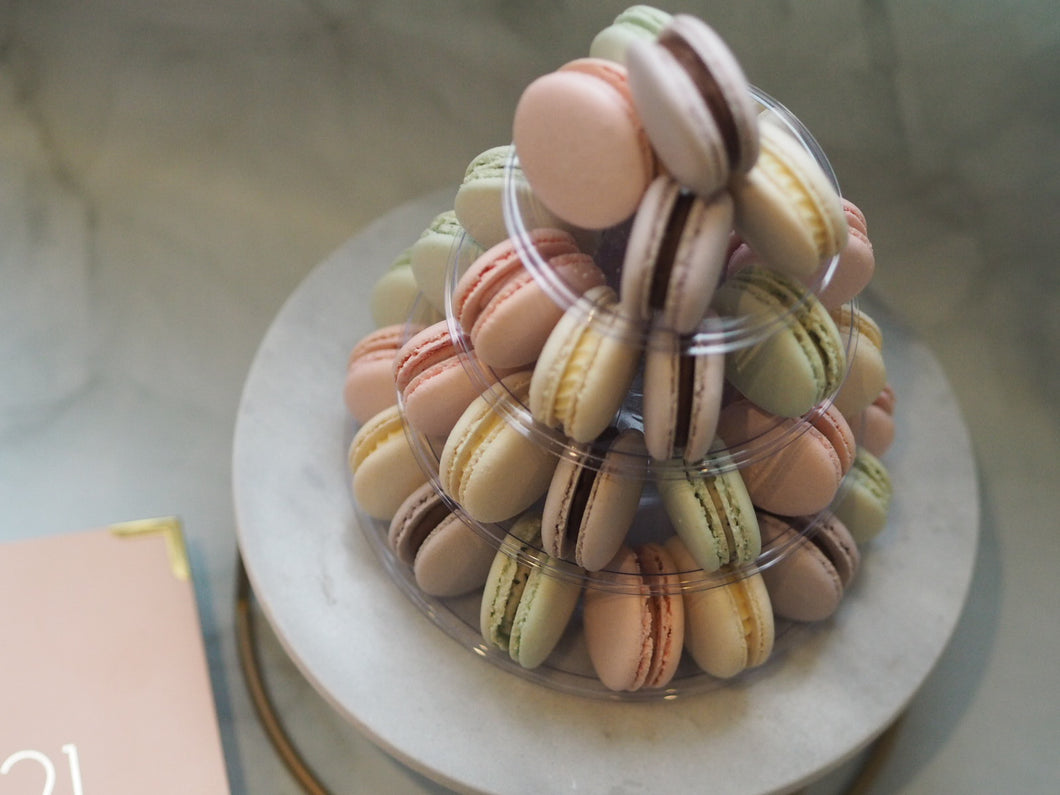 Mini Macarons Tower with 4 tier stand
