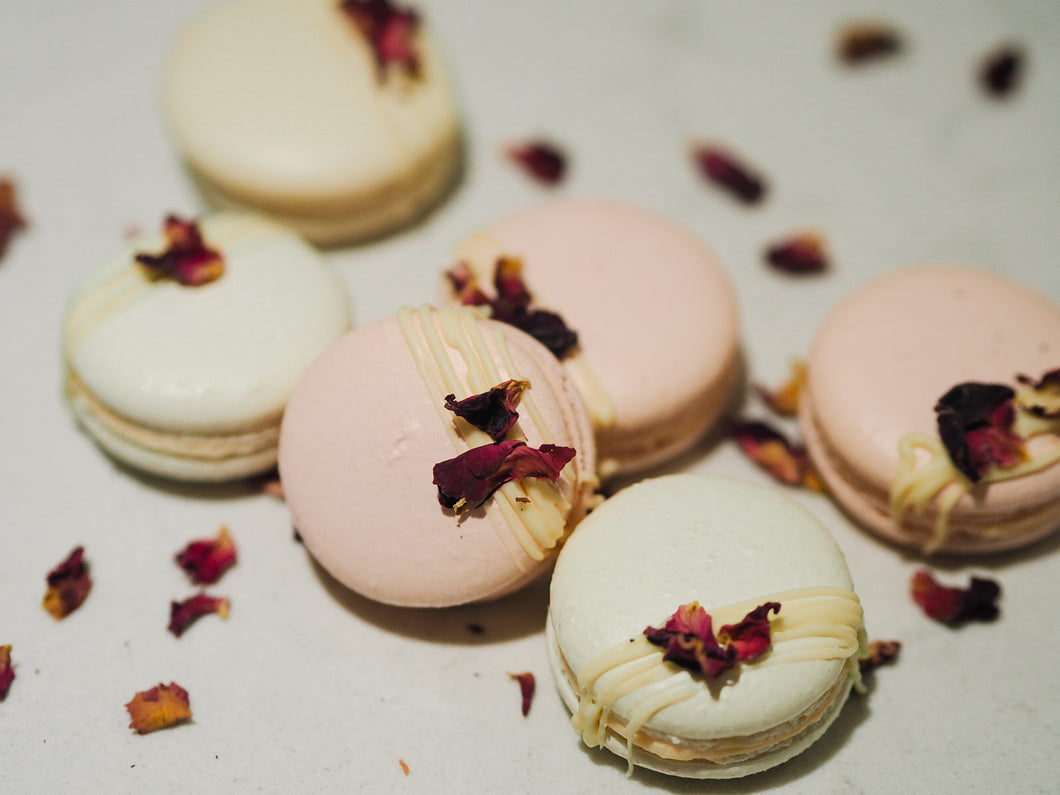 Box of Rose French Macarons