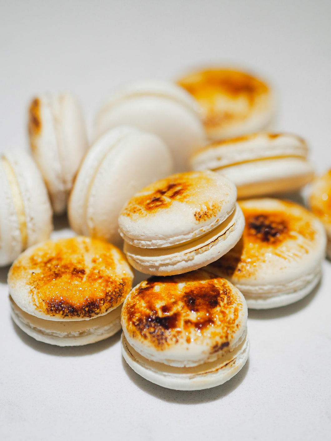 Box of Creme Brulee French Macarons