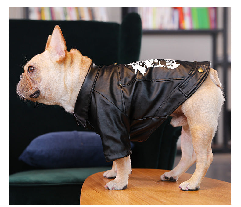 Pet / Dog Skater Faux Leather Jacket