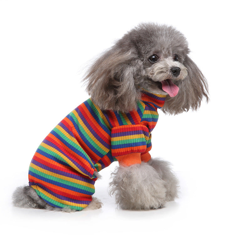 Pet Multi Stripe Turtleneck Pajama