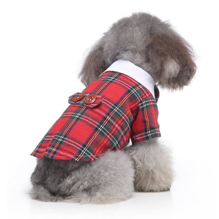 Dog / Cat Holiday Plaid Jacket