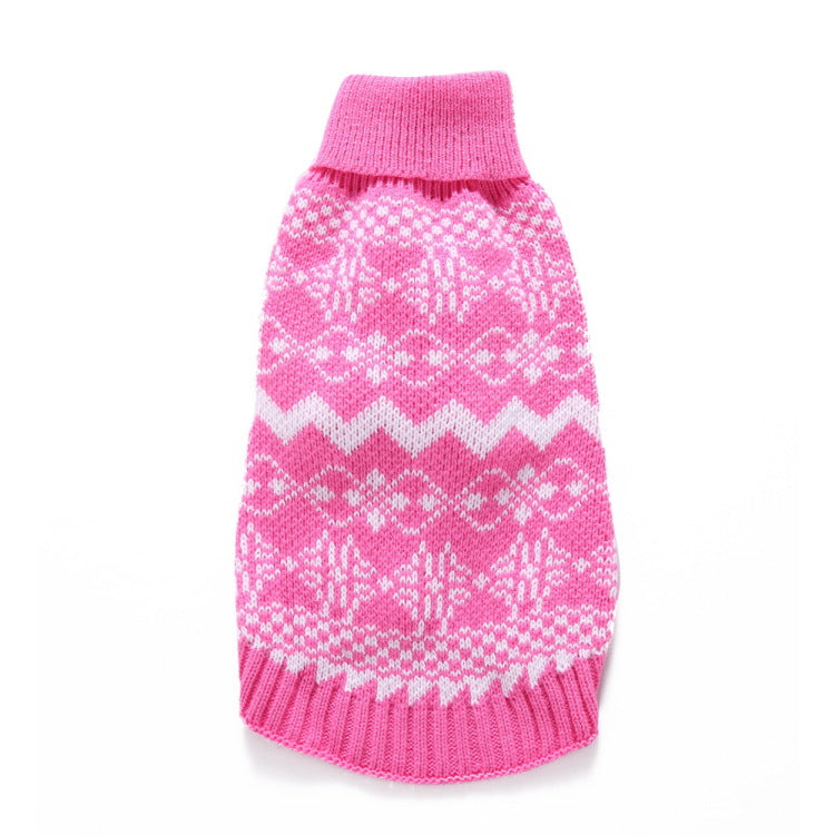 Pet Festive Classic Fair Isle Sweater in Pink