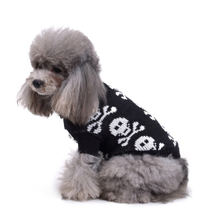 Dog Halloween Skull Sweater