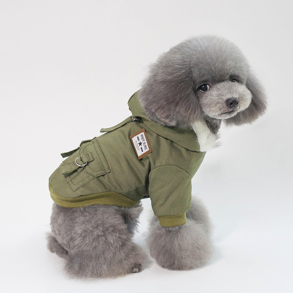 Pet / Dog Fashion Faux Fur Hooded Plush Parker