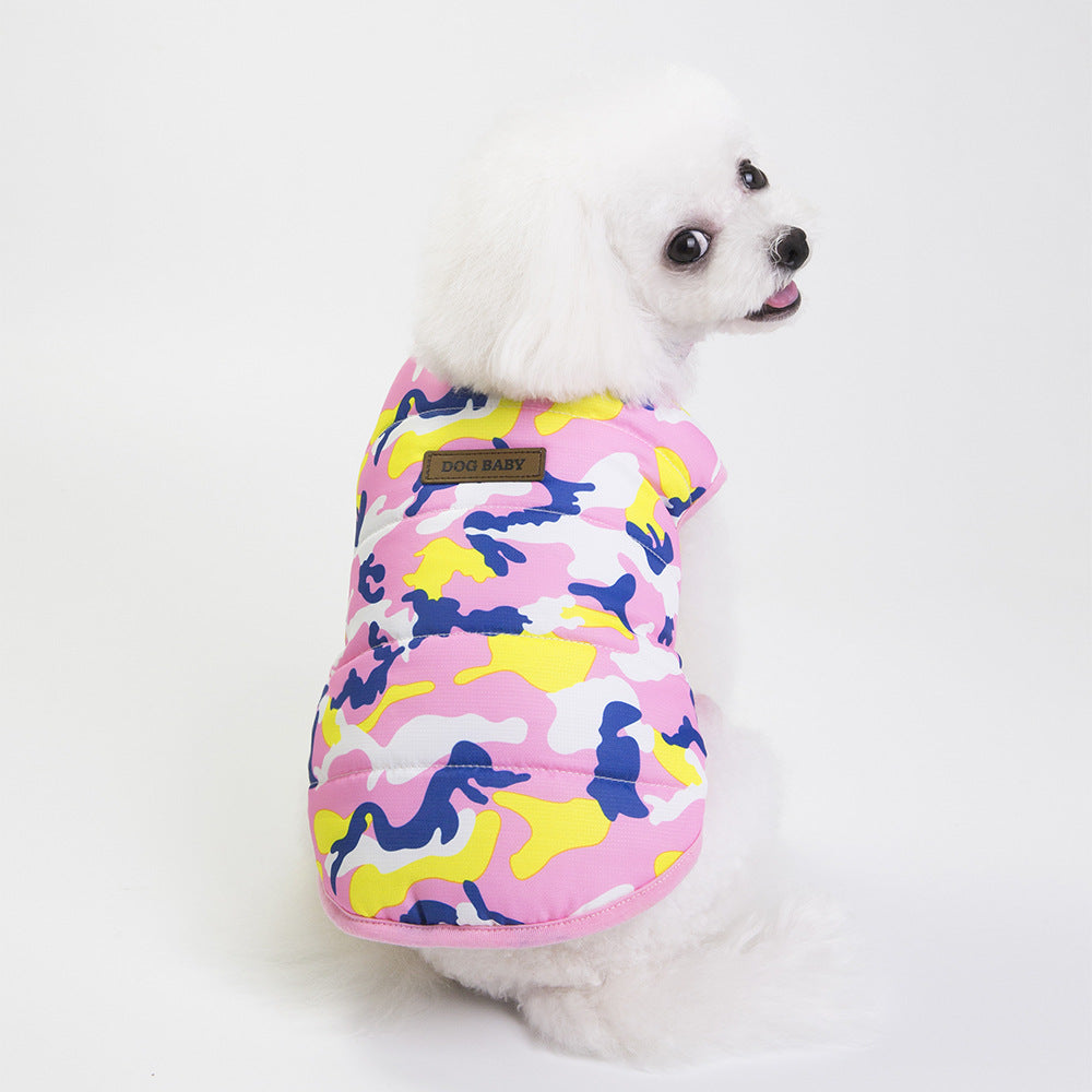Pet / Dog / Cat Camouflage Puffer Jackets