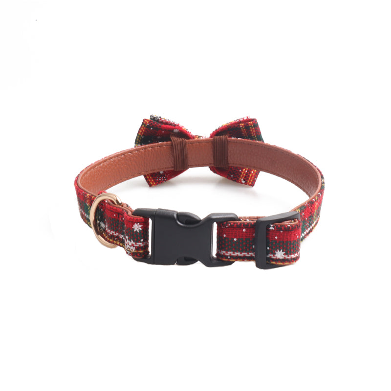 Pet / Dog Holiday Christmas Bow Tie Collar