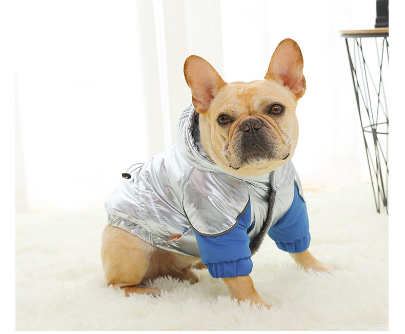 Pet / Dog / Cat Cool Silver Hoodie Jacket