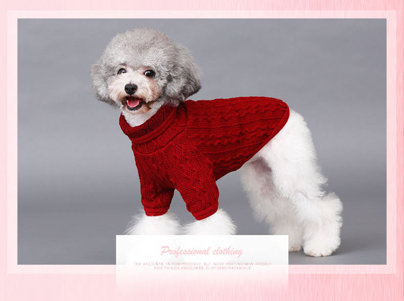 Pet / Dog / Cat Cable Knit Turtleneck Sweater