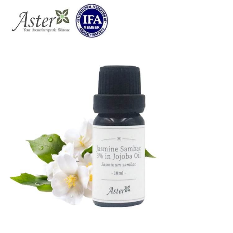 Aster Aroma 3% 苿莉原精香薰油(Jasminum sambac) + 有機荷荷巴油(Simmondsia sinensis) - 10ml