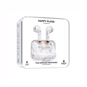 Happy Plugs AIR1 系列真.藍芽耳機 (白大理石)