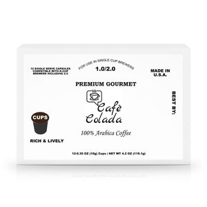12 Pack Single Serve Coffee Capsules - Cafè Colada