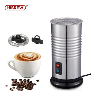 HiBrew Electric Milk Frother automatic milk frother Cold/Hot frothing function Fully  Hot Chocolate mix stainless steel frothe - Cafè Colada