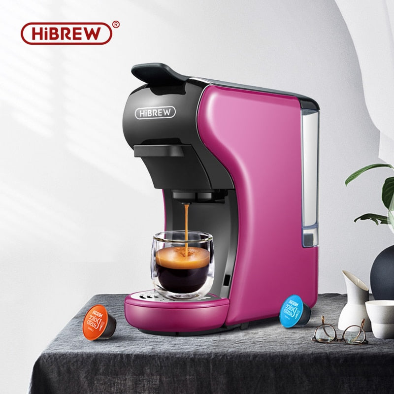 HiBREW 3 in 1 multiple Espresso Coffee Machine machine Espresso  Maker,Dolce gusto nespresso capsule ground coffee kcup pod - Cafè Colada