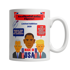 Presidential Action Figures 11oz White Mug - Cafè Colada