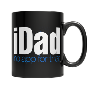 Black iDad no app for that 11oz custom Mug - Cafè Colada