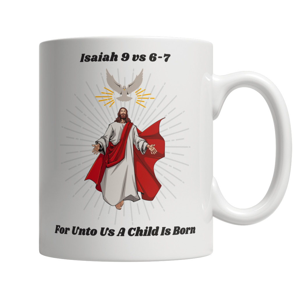Jesus Christ Was Born 11oz White Mug - Cafè Colada