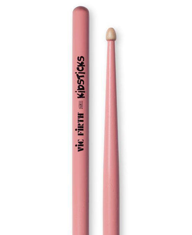 Vic Firth American Classic Wood Tip Kidsticks Pink.