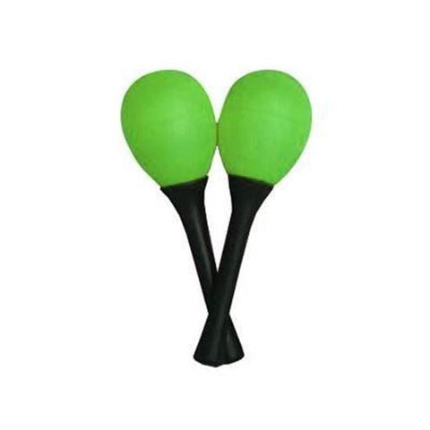 Handle Egg Maracas Green Pair