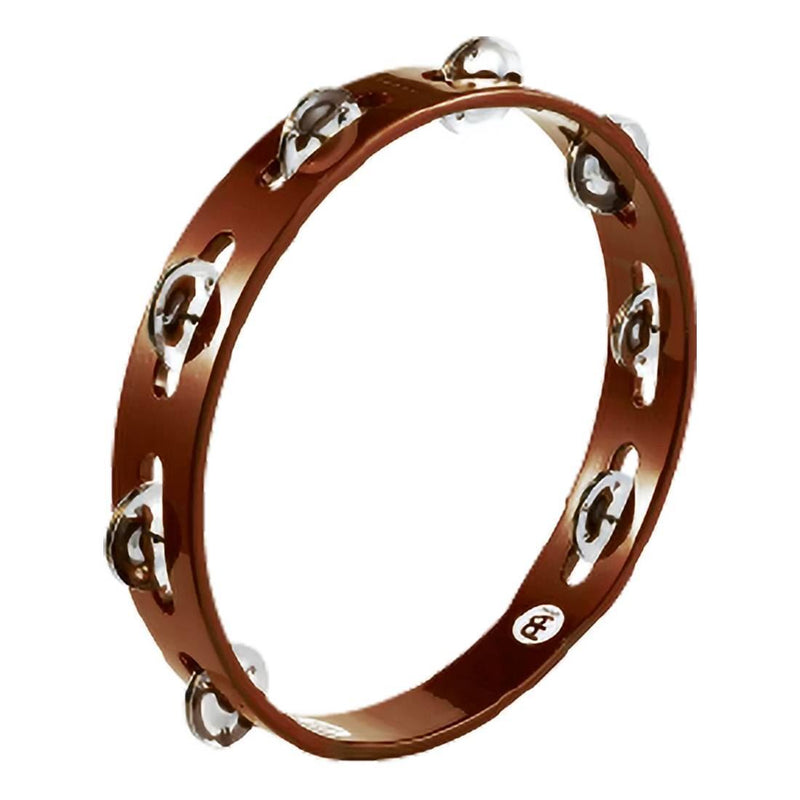 1 Row Steel Jingles African Brown Tambourine.