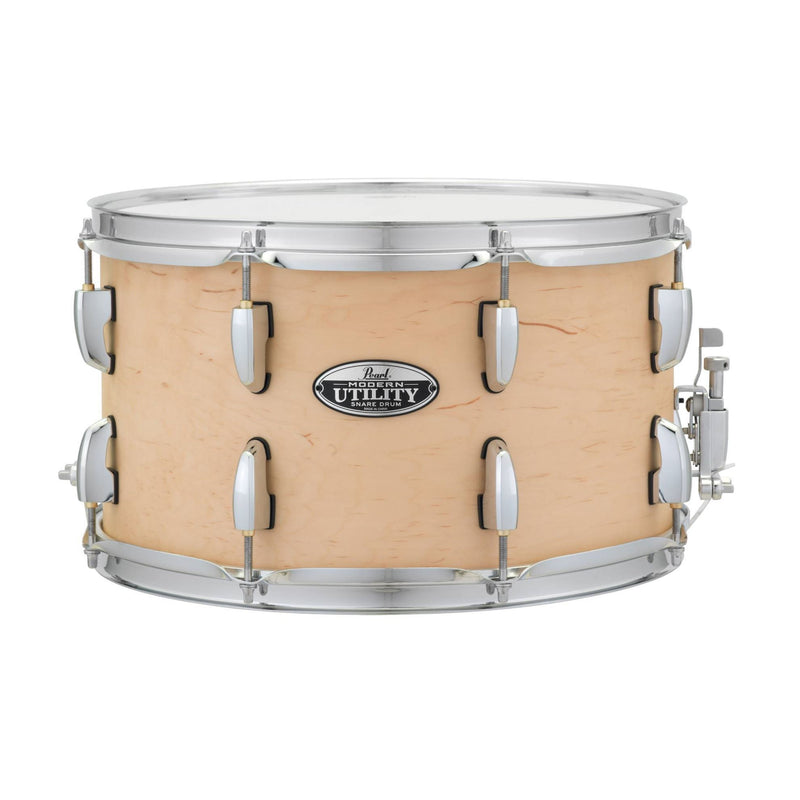 Pearl MUS1480M-224 Modern Utilty 14 x 8inch Maple Snare Drum in Matte Natural at Five Star Music 102 Maroondah Highway Ringwood Melbourne Music Guitar Store.