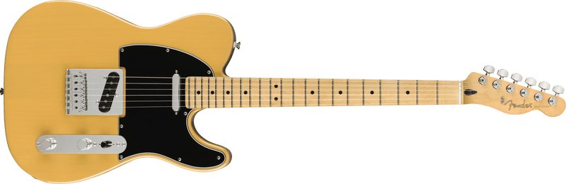 Fender Player Tele in Butterscotch Blonde.