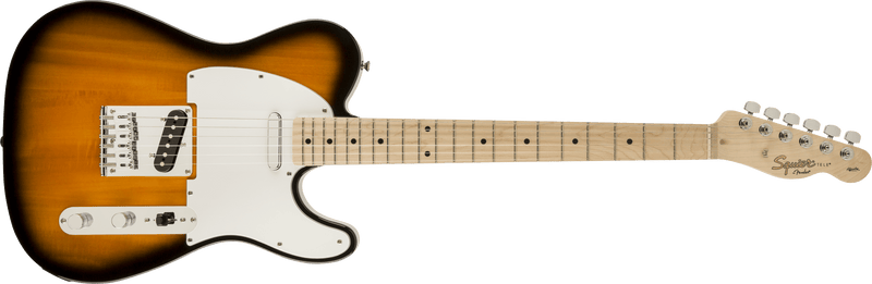 Squier Affinity Series Telecaster, Maple Fingerboard, 2-Color Sunburst - Five Star Music