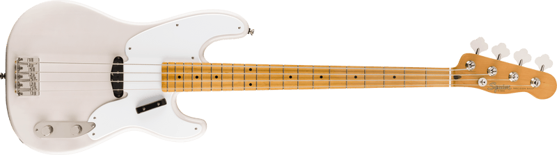 Squier Classic Vibe 50s Precision Bass White Blonde at Five Star Music 102 Maroondah Highway Ringwood Melbourne Music Guitar Store.