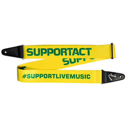 Fender AU Sipport Act Strap Yellow/Green