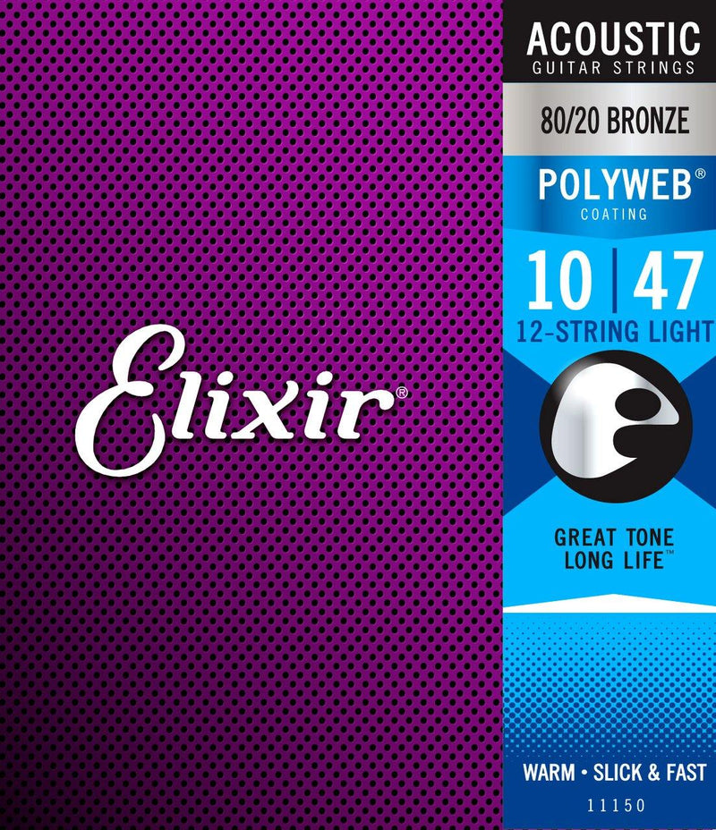 Elixir 11150 Polyweb 80/20   12 String Light 10-47.