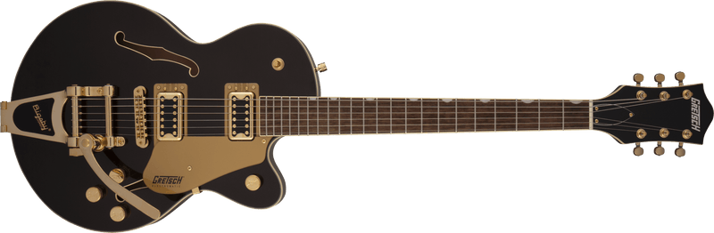 G5655TG Electromatic Center Block Jr. Single-Cut with Bigsby and Gold Hardware Laurel Fingerboard Black Gold.