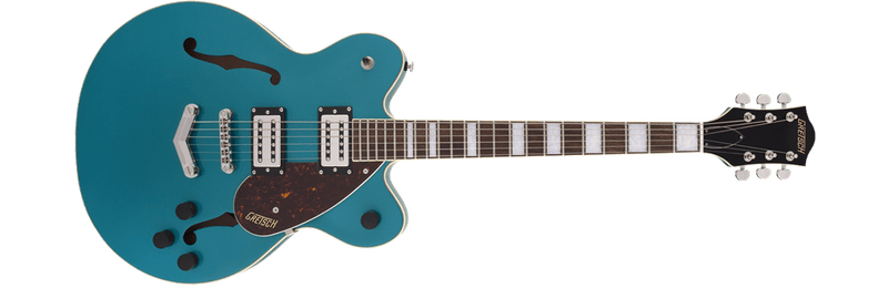 G2622 Streamliner Center Block Double-Cut with V-Stoptail BroadTron BT-2S Pickups Laurel Fingerboard Ocean Turquoise.