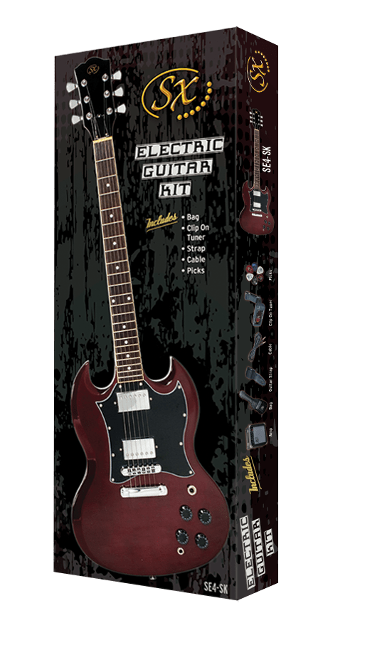Essex SG Electric Guitar Pack with Accessories.
