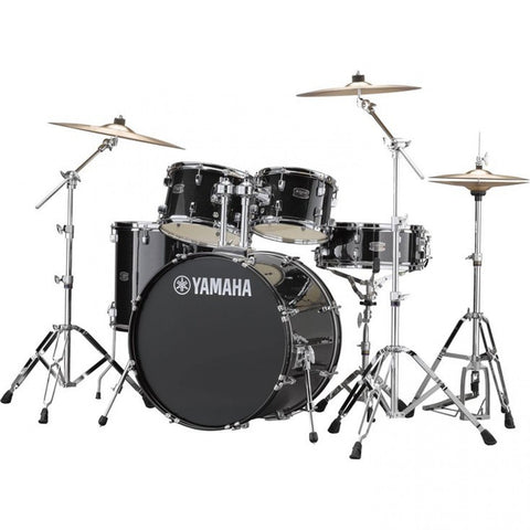 Yamaha Rydeen Euro Drum Kit Black Glitter with Paiste Cymbals.