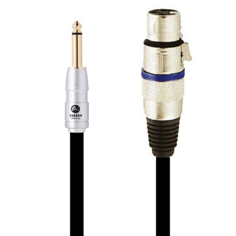 020 Ft Mic Cable Female XLR To Male Jack Chrome