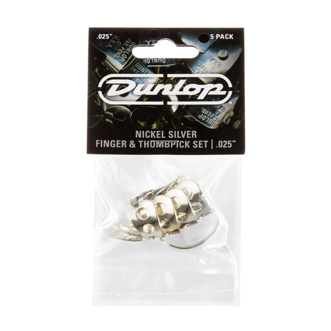 Dunlop Nickel Finger and Thumb Picks Players Pack.