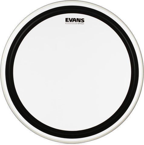 Evans EMAD 22 Inch Bass Drum Head Batter Clear