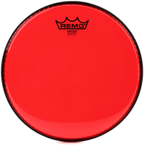 Remo Emperor Colortone Red 14 Inch