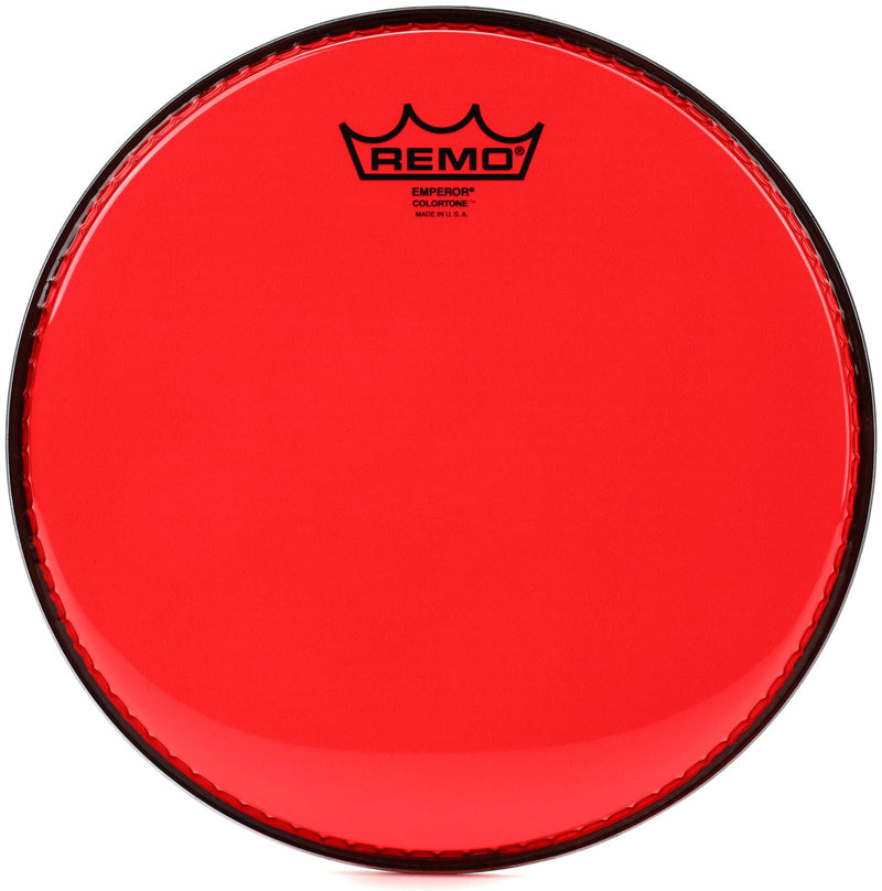 Remo Emperor Colortone Red 13 Inch.