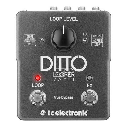 TC Electronic Ditto X2 Stereo Dual Button Looping Pedal For Guitarists at Five Star Music 102 Maroondah Highway Ringwood Melbourne Music Guitar Store.