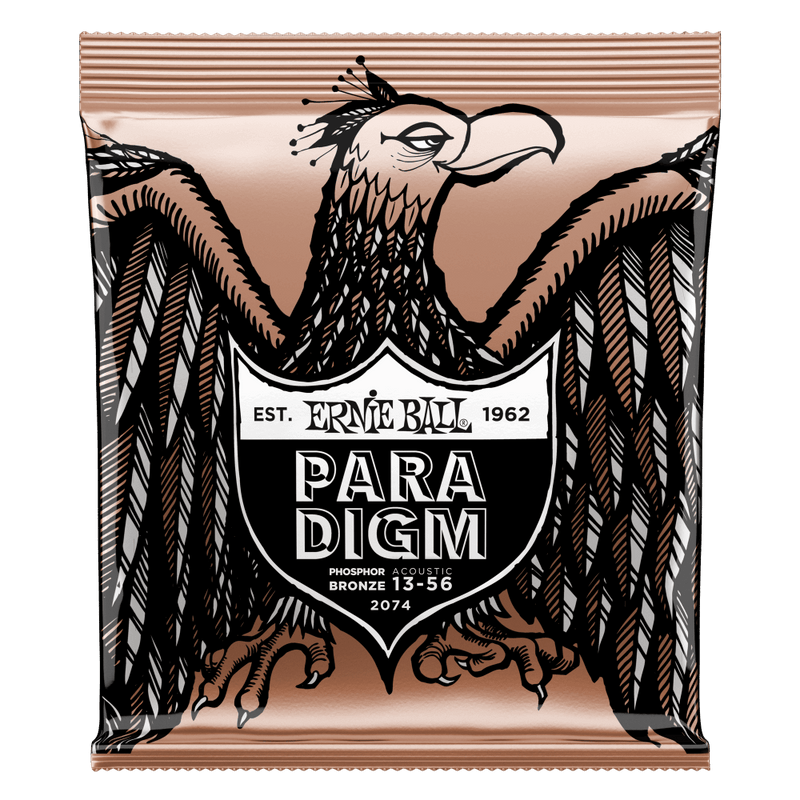 Ernie Ball Paradigm Medium Phosphor Bronze Acoustic Guitar Strings 13-56 Gauge.