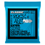 Ernie Ball Extra Slinky Classic Rock n Roll Pure Nickel Wrap Electric Guitar String, 8-38 Gauge
