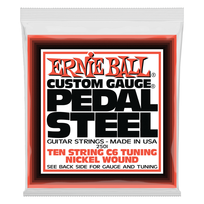 Ernie Ball Pedal Steel 10-String C6 Tuning Nickel Wound Electric Guitar Strings 12-66 Gauge.