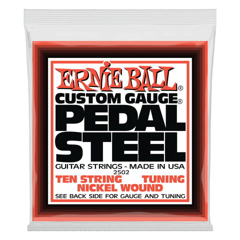 Ernie Ball Pedal Steel 10-String E9 Tuning Nickel Wound Electric Guitar Strings 13-38 Gauge