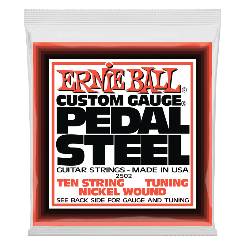 Ernie Ball Pedal Steel 10-String E9 Tuning Nickel Wound Electric Guitar Strings 13-38 Gauge.