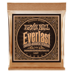 Ernie Ball Everlast Light Coated Phosphor Bronze Acoustic Guitar String, 11-52 Gauge