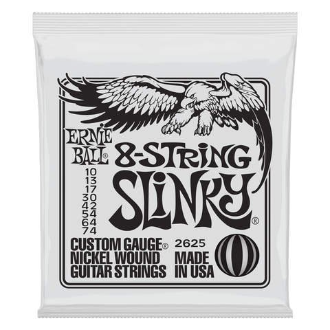 Ernie Ball Slinky Nickel Wound Electric Guitar 8-String 10-74 Gauge