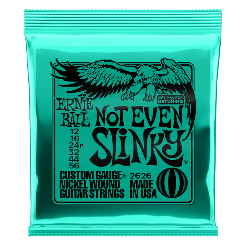 Ernie Ball Not Even Slinky Nickel Wound Electric Guitar Strings 12-56 Gauge.