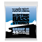 Ernie Ball Flatwound Group III Electric Bass String, 45-100 Gauge