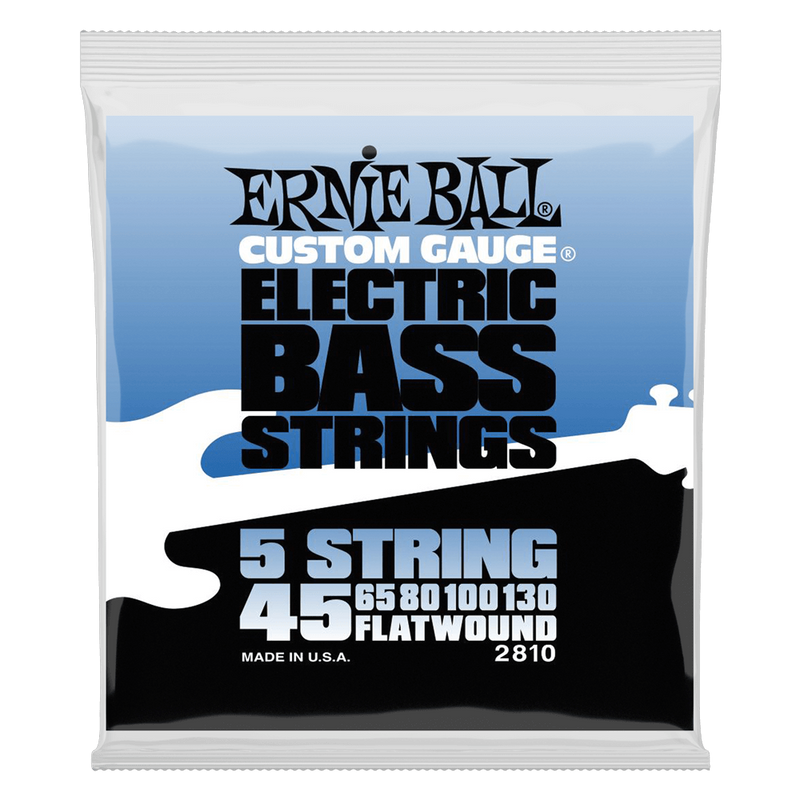 Ernie Ball Flatwound 5-string Electric Bass String, 45-130 Gauge.